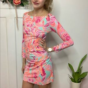 Lilly Pulitzer Blue Pink The Sophie Mini Dress